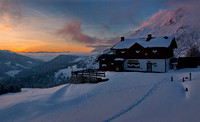 Erichhütte- evening light and freezing cold