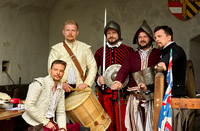 Sword fighting team from Bratislava on a visit to Hohenwerfen