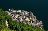 Looking down at Hallstatt from Rudolfsturm