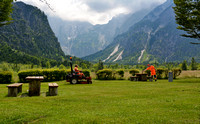 Mowing the lawn at Lake Almsee
