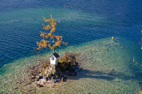 Lone Tree on a little Island in Lake Wolfgansee