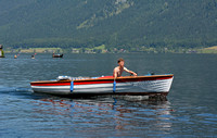 Electro boat on Lake Hallstatt