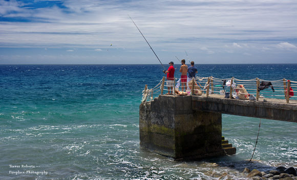 Fishing on the atlantic coast